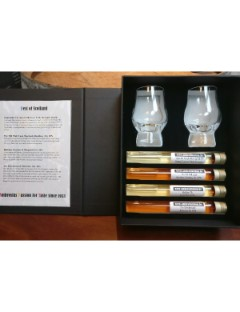 Tasting Tubes best of Scotland  4 x2.5cl  2 perfect dram glaasjes