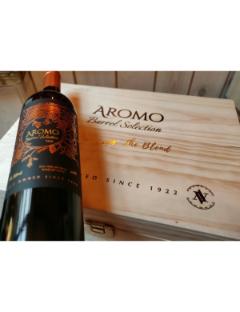 Houten Kist 6 flessen Aromo Barrel Selection 2016 6x75cl