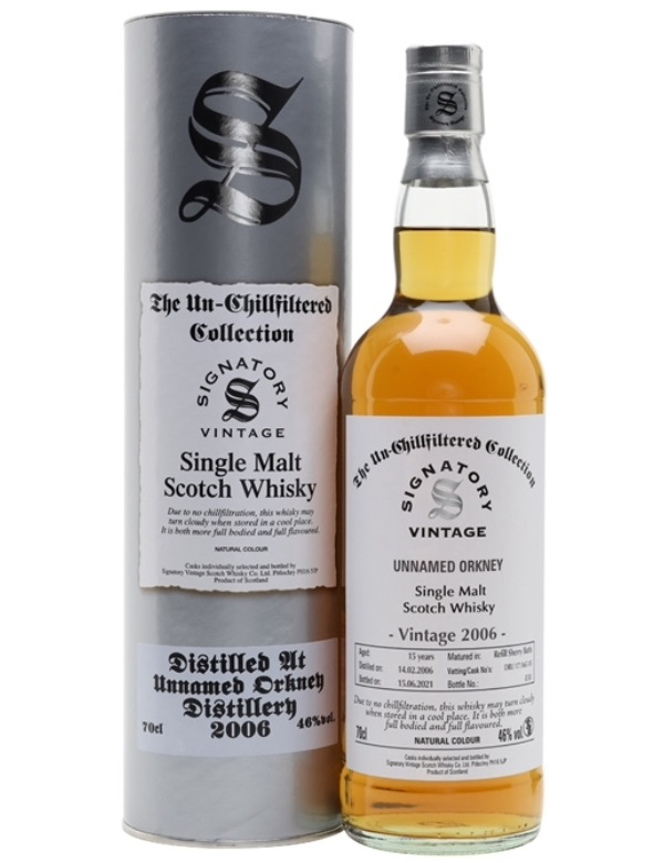 Unnamed Orkney 2006 15y Signatory 46% 70cl