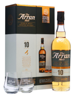 The Arran 10y Gift Pack 2 Glasses