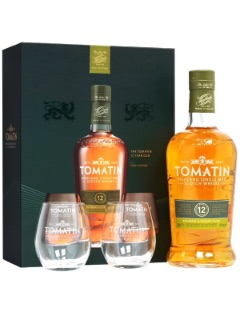 Tomatin 12y Gift pack   2 glasses 70cl 43%