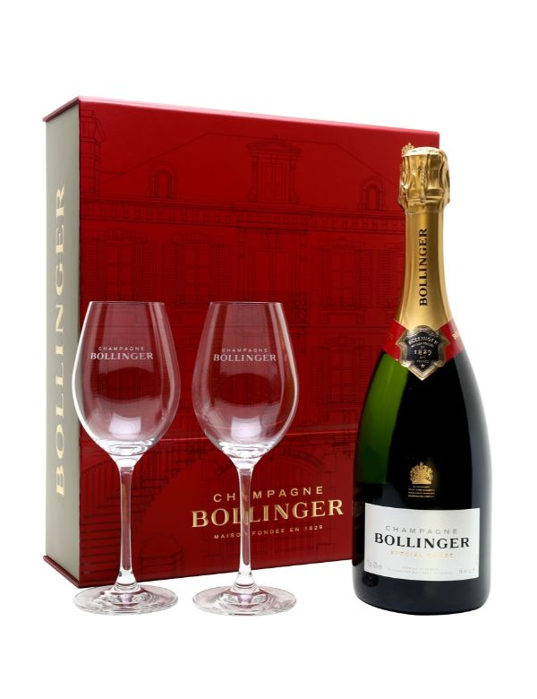 Bollinger Special Cuvee 75cl gift box   2 glasses.
